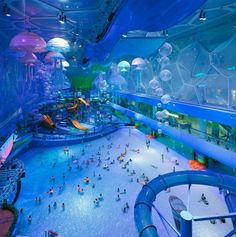 The National Aquatic Center Olympic Stadium in #Beijing #China has been turned into an indoor water park