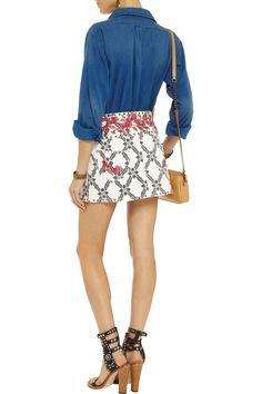 Isabel MarantGelicia embroidered denim mini skirtback