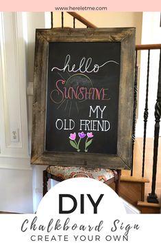 DIY Chalkboard Sign