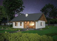 Projekt domu Murator C333j Miarodajny - wariant X 86,6 m2 - koszt budowy 174 tys. zł - EXTRADOM Home Fashion, Outdoor Structures, Cabin, Mansions, House Styles, Decoration, Home Decor, Cute, Projects
