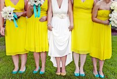 Pink Swan Events - Turquoise and Yellow Inspiration (www.PinkSwanEvents.com)