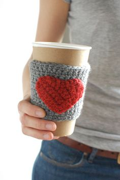 Coffee cozy. i have a pattern for some cozies but i just never got to it last year for Christmas gifts.