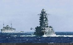 Nagato at sea | A splendid bows-on view of the battleship Na… | Flickr