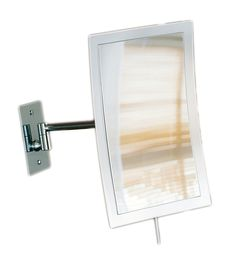 Excellent High End Modern Luxurious Illuminated Wall Mounted Magnifying Mirror In Chrome