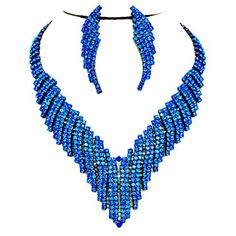 Affordable Wedding Jewelry Royal Blue Rhinestone V Drop Earrings Hematite Necklace Set Affordable Wedding Jewelry http://www.amazon.com/dp/B016N9DMLA/ref=cm_sw_r_pi_dp_EM2qwb17NZZHX
