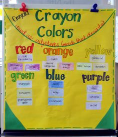 Sparkle Words Idea- make into a reference book or word wall. Students will make it to be more meaningful.