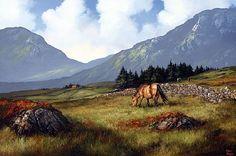 In Inagh Valley Connemara by Eileen Meagher Irish Art, Connemara, Belfast, Contemporary Paintings, Dublin, Art Gallery, Sculpture, Ireland, Art Museum