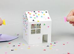 Pop Up House DIY Invitation Card | AllFreePaperCrafts.com