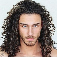 Trending Hairstyles For Men, Haircuts For Long Hair, Long Hair Cuts, 3b Curly Hair, Wavy Hair Men, Hair And Beard Styles, Curly Hair Styles, Beautiful Dreadlocks, Men Hair Color