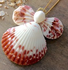 This Adorable Calico Seashell Angel is handmade here at Sea Things. This Angel is calico pink in color. All shells are natural in color. She is really very pretty and creative. Every Angel is handmade Seashell Painting, Seashell Art, Seashell Crafts, Beach Crafts, Flower Crafts, Stone Painting, Seashell Christmas Ornaments, Handmade Ornaments, Seashell Projects