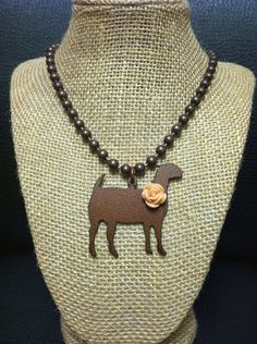 Rustic Copper Show Goat Necklace | Showring Silhouettes