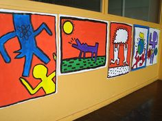 Social issue posters in the style of Keith Haring