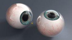 creating realistic eyeballs in Cinema 4d