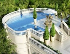 Pool on a balcony high rise. Luxury Swimming Pools, Luxury Pools, Dream Pools, Swiming Pool, Le Palais, Palais Royal, Beautiful Pools, Cool Pools, Awesome Pools