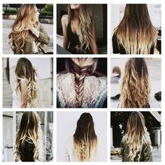 long ombre hair, so want to do this!!!