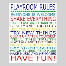playroom rules - Google Search