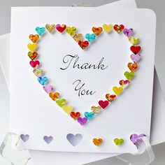 Handmade 3D Thank You Card  Personalised Thank by CardsbyGaynor