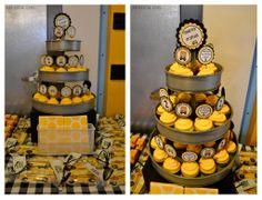 Wheels on the Bus-School Bus Bash- Cupcake Tier- Dessert Table
