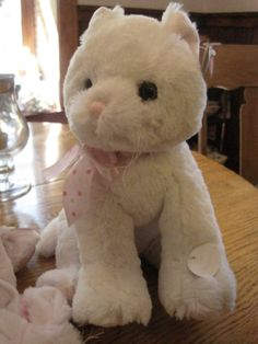 Musical and oh so soft plush kitty. Her head turns as the music plays. The hit of every shower. Sold. see the bunny which is also adorable