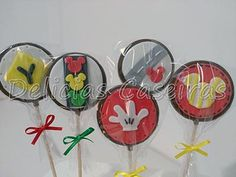 Decorative Plates, Kit, Chocolate Pops, Fiesta Mickey, Wheels, 3rd Birthday, Products, Adventure