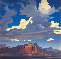 Ed Mell — Can definitely see the influence of Maynard Dixon in Ed Mell's work.