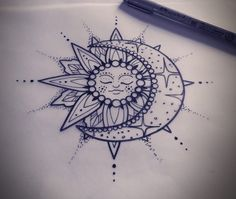 I love the moon and the sun idea.