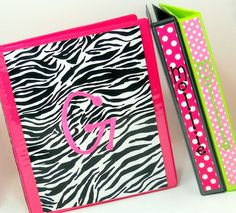 monogrammed binders so preppy love pinterest binder inserts binder and school