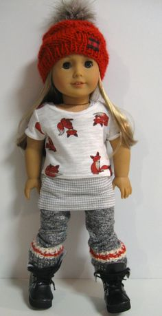 American Girl Doll Clothes Woodland Cozy Fox Crop Top