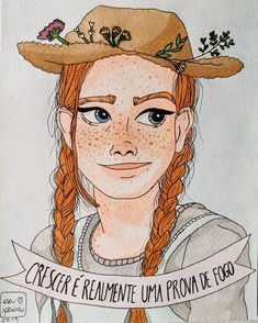 Amybeth Mcnulty, Gilbert And Anne, Anne White, Bullet Journal Banner, Fanart, Anne With An E, Anne Shirley, Tumblr Wallpaper, Cute Illustration
