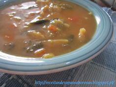Receitas de sopas: Sopa de legumes variados