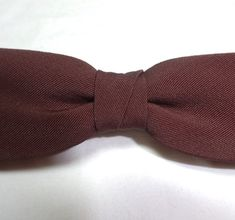 1950s Vintage Best Clip Brown Faille Clip On Bow Tie, Possible Silk, Rust Resist, Men's Fashion Accessory, Men's Vintage Bow Tie, 1950s Man by VictorianWardrobe on Etsy