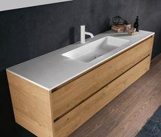 Flat-Falper Bathroom Vanity Makeover, Bathroom Vanity Cabinets, Basin Vanity Unit, Vanity Units, Industrial Interior Design, Bathroom Interior Design, Ideas Baños, Small Bathroom Storage, Shower Remodel