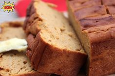 PUMPKIN PIE PROTEIN BREADMacros per slice (out of eight): 75kcals, 7g protein, 9g carbs (out of which 4g is fiber so net carbs: 5g) and 1g fat. - See more at: http://proteinpow.com/2014/09/pumpkin-pie-protein-bread.html#sthash.dAtlU4qH.dpuf