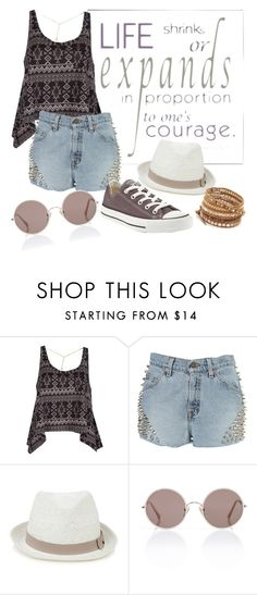 """""""Untitled #32"""" by nikii7 ❤ liked on Polyvore featuring Billabong, The Ragged Priest, Converse, Oasis, Sunday Somewhere and Chan Luu"""