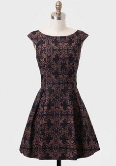 Hotel Meurice Brocade Dress   Modern Vintage New Arrivals