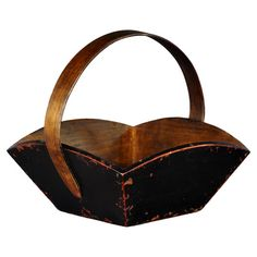 Found it at Wayfair - Fruit Tray with Wooden Handle in Black
