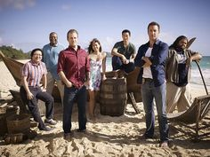 Scott Caan, Daniel Dae Kim, Jorge Garcia, Chi McBride, Grace Park, Masi Oka, and Alex O'Loughlin in Hawaii Five-0 (2010)