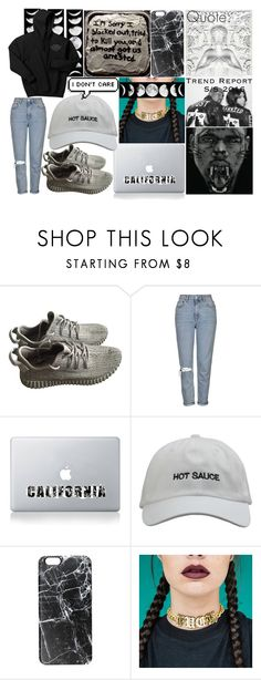 """""""Untitled #685"""" by bringmethesykes321 ❤ liked on Polyvore featuring BLK DNM, adidas, Topshop and Casetify"""