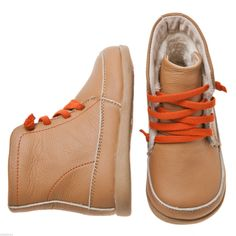 New Little Blue Lamb Girls Boys Toddler Infants Childrens Real Leather Boots - Tan | £18.95