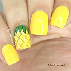 Yellow Nails Pineapple MERNUR hopes these 54 Most Trendy Cutest Yellow Nails Design You Should Try for Daily life that can help you out. We hope you like this collection. ♡Pineapple is a sunny yellow glitter that will make you Pineapple Nail Design, Pineapple Nails, Yellow Toe Nails, Yellow Nails Design, Summer French Nails, Summer Nails, Minimalist Nails, Simple Toe Nails, Beach Nails