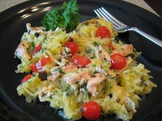 I whipped up this tasty little dish for our lunch today. I had small portion of leftover cooked chicken breast I needed to use up but it wasn't enough for sandwiches. The spaghetti squash that h...