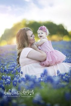 Texas Bluebonnet Family Photographer, Dallas family photographer, bluebonnets, mother daughter Family Picture Poses, Family Photos, Mommy And Me Photo Shoot, Texas Bluebonnets, Blue Bonnets, Photographing Kids, Dahlias, Baby Ideas, Family Photographer
