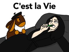 C'est la Vie by Jennifer Babcock: Enjoy the existential adventures of transplanted Parisienne Mona Montrois as she chain-smokes her way to equilibrium in the City of Angels, armed only with the sage advice of confidant and adviser Monsieur Smokey, a lewd, chauvinistic stuffed bunny. | http://gocomics.com/cestlavie | #comics #women #humor | © Jennifer Babcock