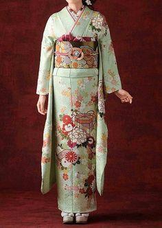 Hulisode. hulisode: long sleeved formal kimono, single women only