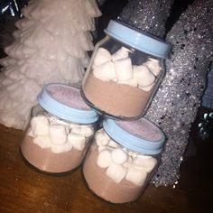 Winter ONEderland first birthday party. Hot chocolate favors