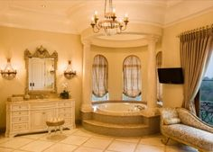 Wow, I'd feel like a princess if this was my bathroom...which I am so it's PERFECT!