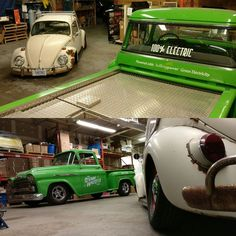 Watch out @steamwhistlebrewing #RetroElectro your #1958chevy  #electrictruck may catch #Herpes from this #VWbeetle named #herpethelovebug