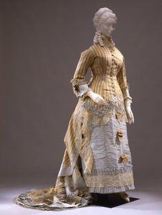 Wedding dress, 1876-78 From the Galleria del Costume di Palazzo Pitti via Europeana Fashion