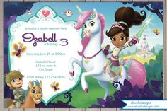 Nella the Princess knight Birthday Invitation