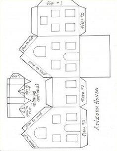 Printable Patterns for Putz Glitter Houses Putz Houses, Christmas Village Houses, Christmas Villages, Fairy Houses, Mini Houses, 3d Templates, Templates Printable Free, Christmas Paper, Christmas Home